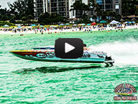 Helicopter Video of the Watt-Ahh Race Boat and its Competitors, 2015 Sarasota Power Boat Grand Prix